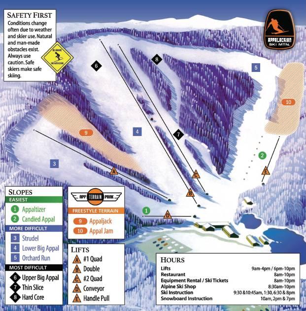 Appalachian Ski Mountain Trail Map Image Appalachian Ski Mountain