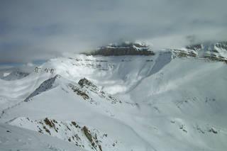 The summit panorama at Lake Louise