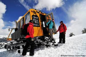Kirkwood will offer snowcat skiing through June before reopening for lift served skiing and riding July 4th weekend. (photo: Kirkwood Resort/Rachid Dahnoun/Aurora Photos)