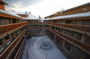 The center courtyard of the Fox Hotel and Suites (photo: FTO/Kevin Gawenus)