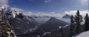 Looking back toward the Mount Norquay base lodge and the town of Banff. (photo: FTO/Kevin Gawenus)