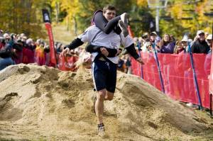 A scene from the 2010 Wife Carrying Championship at Sunday River Ski Resort in Newry, Maine. (file photo: Sunday River)