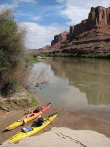 The author's kayaks at Two Mile Canyon (photo: FTO/Marc Guido)