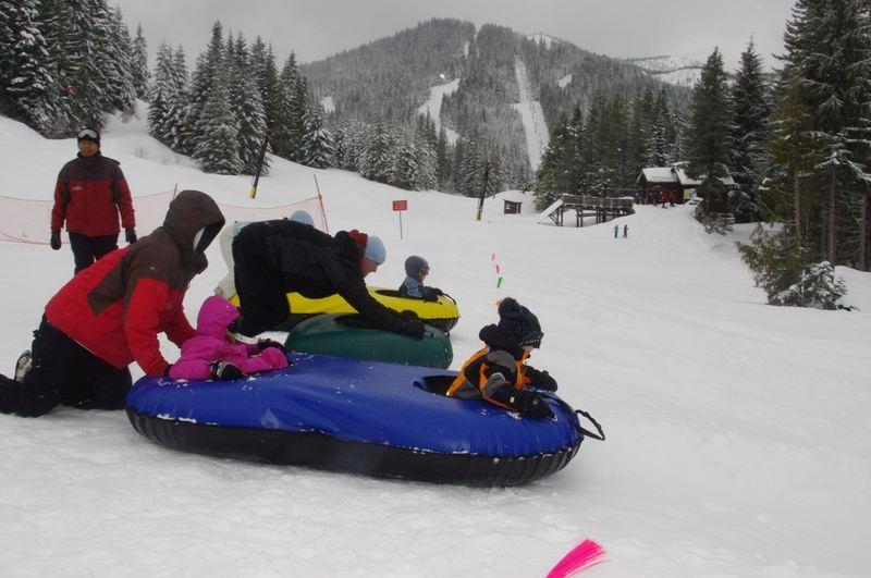 Snow tubing at Mt. Hood Skibowl
