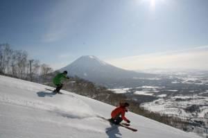 Cruising Niseko's groomers (photo: NPB)