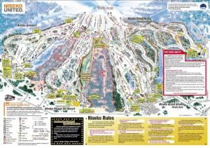 Niseko United trail map