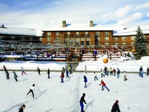 Public ice skating in years past at the historic Sun Valley Lodge (file photo: Sun Valley Resort)