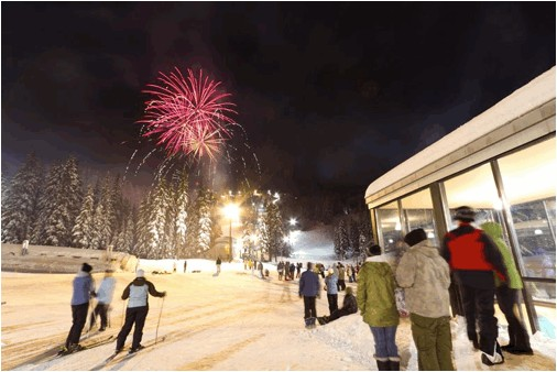 The 2010 New Year's Eve fireworks at Mt. Hood Meadows. (photo: Randy Boverman)