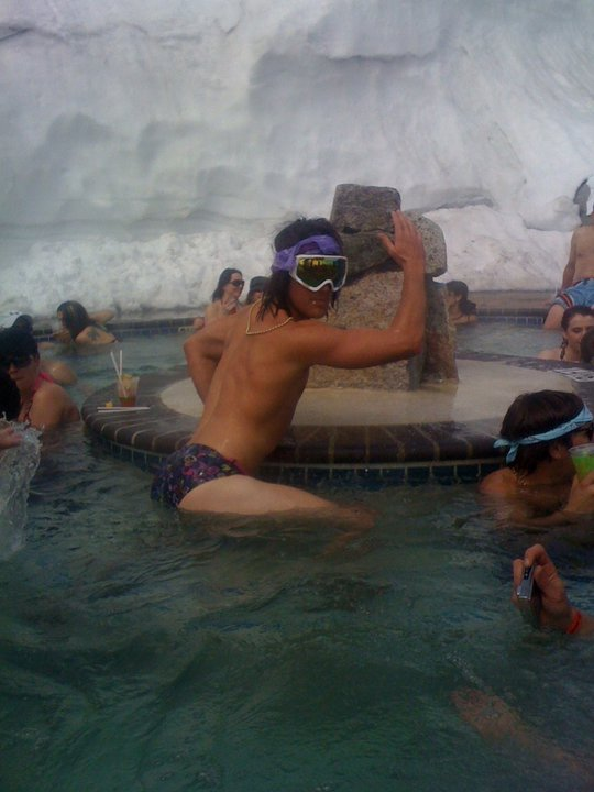 Retro ski day saturday at squaw first tracks online - High camp swimming pool squaw valley ...