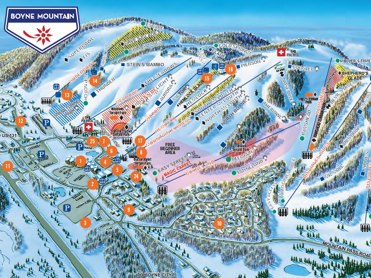 Snowmaking flood damages boyne ski lift first tracks for Boyne mountain resort