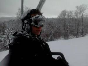Nicholas Joy on Sunday, before he went missing at Sugarloaf ski resort in Maine (photo: Maine Warden Service)