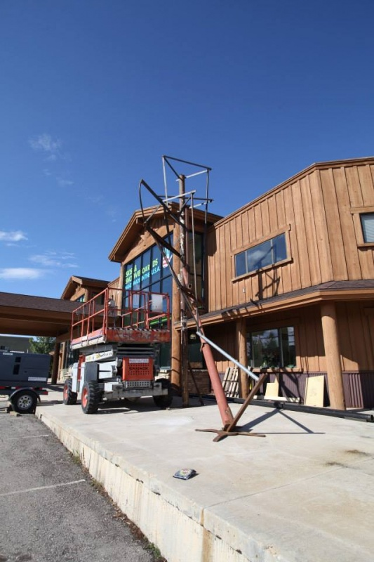 Artists build the frame for a 25-foot Yeti outside of the RAMP Sports factory in Park City, Utah. (photo: RAMP)