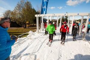 Skiers get a jump start on the season at Mont-Saint-Sauveur on Wednesday. (photo: Mont-Saint-Sauveur)