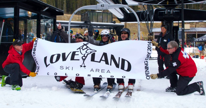 Loveland Ski Area opened for the season on Saturday, joining its Colorado neighbor Arapahoe Basin which first opened for the season last month (photo: Loveland Ski Area)