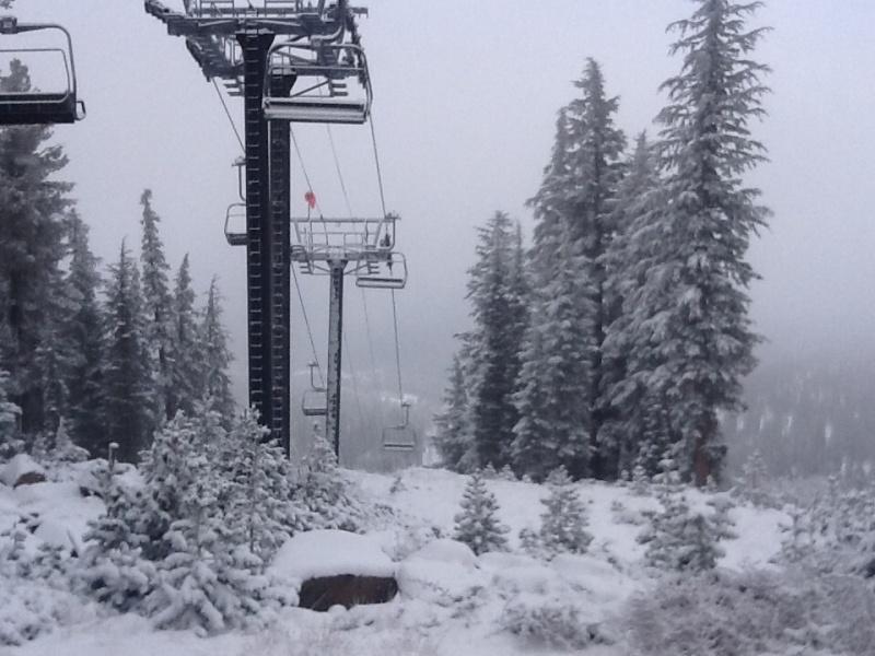 New snowfall at Northstar California on Saturday (photo: Northstar California Resort)