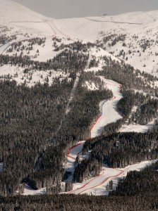 The World Cup women's downhill course in Lake Louise (photo: U.S. Ski Team/Tom Kelly)
