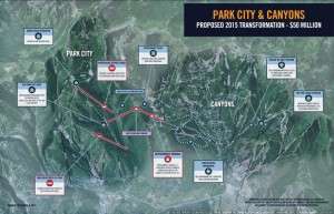 Vail Resorts' planned upgrades at Utah's Park City Mountain Resort and Canyon Resort for winter 2015-16. (image: Vail Resorts)