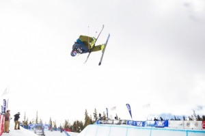 David Wise, of Reno, Nev., flies to victory in Friday's freeskiing finals a the Sprint U.S. Grand Prix's first stop this season, at Copper Mountain, Colo. (photo: Sarah Brunson/U.S. Freeskiing)