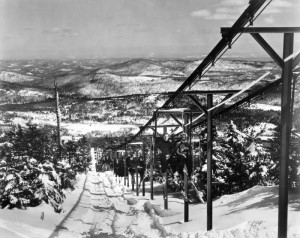 One of Walt Schoenknecht's bizarre early chairlift designs at Mount Snow in Vermont. (file photo: Mount Snow Resort)