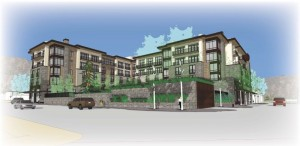 An architect's rendering of Aspen Skiing Co.'s planned Limelight Hotel in Ketchum, Idaho, near Sun Valley ski resort. (image: ASC)