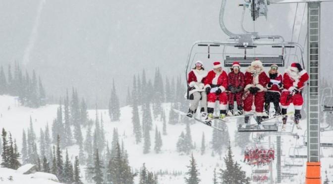 Dress Like Santa, Ski Whistler for Free