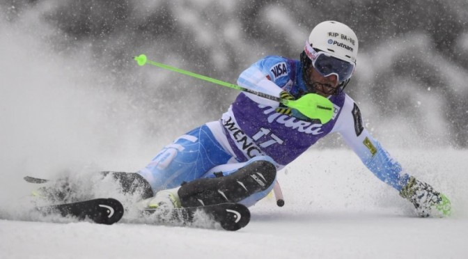 Ligety finishes 27th overall in the Wengen slalom on Saturday. (photo: Getty Images-AFP/Olivier Morin/courtesy USST)