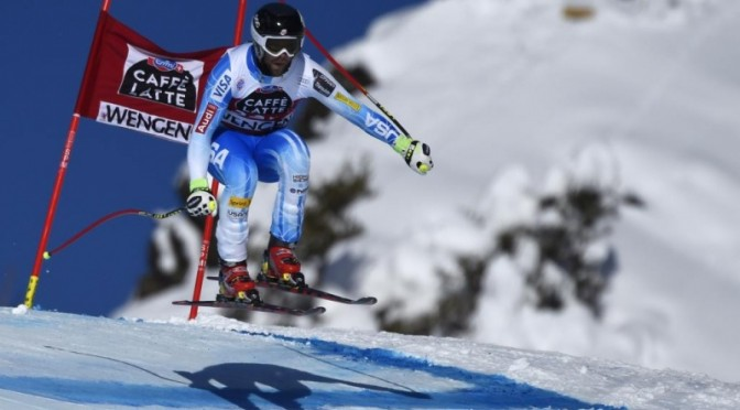 Travis Ganong finishes in 31st in Wengen, Switzerland on Sunday. (photo: Getty Images-AFP/Fabrice Coffrini/courtesy USST)