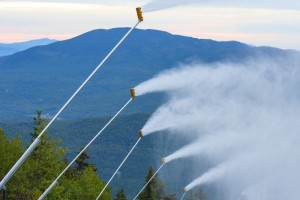 """Maine's Sunday River ski resort used this morning's cool snap to """"blow out the mice."""" (photo: Sunday River Resort)"""