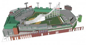 A scaffolding ramp will be constructed inside Fenway Park, with athletes reaching speeds up to 40 mph on the ramp. (image: USSA)