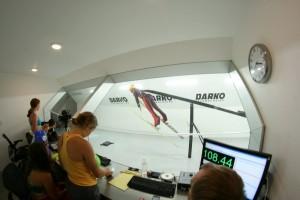 Members of the U.S. Women's Ski Jumping Team refine their aerodynamics in a wind tunnel in Ogden, Utah, in July. (photo: WSJ-USA)