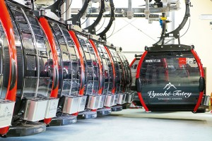 New eight-passenger Doppelmayr gondola cabins just like these will soar up the slopes of Minnesota's Lutsen Mountains this winter. (photo: Doppelmayr)
