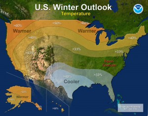 Temperature - U.S. Winter Outlook: 2015-2016 (image: NOAA)