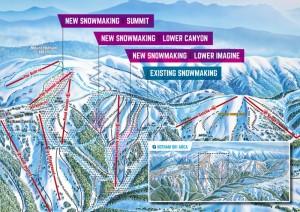 Mt. Hotham's snowmaking upgrades for 2016 (image: Mount Hotham Alpine Resort)