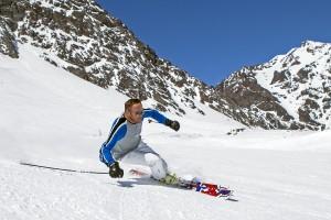 Bode Miller on Bomber's Tribal Warrior KH skis. (photo: Jonathan Selkowitz)