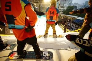 Dropping in at the 2015 Burton Rail Days in Tokyo, Japan. (photo: Burton Snowboards)