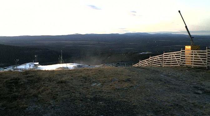Not enough snow in Levi. (image: Levi Tourist Office webcam)