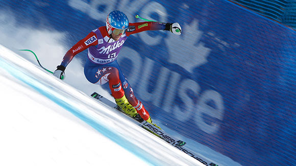 Nyman and Ganong Lead U.S. in Lake Louise Downhill Training