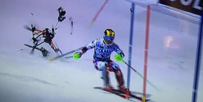"""""""Heavy air traffic in Italy,"""" Hirscher posted to Instagram."""
