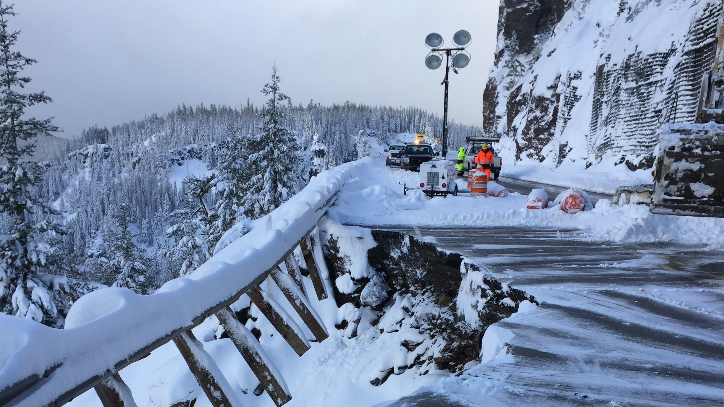 road repairs to allow white pass to open | first tracks!! online ski