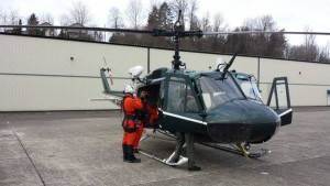 King County Sheriff's Office Air Support Guardian 2 getting ready to launch for a body recovery on Mt. Herman in Washington on Monday. (photo: Whatcom County Search and Rescue Council)