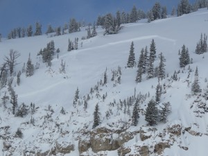 This avalanche in Ralph's Slide near Jackson Hole on Sunday killed two ill-equipped skiers. (photo: Bridger Teton Avalanche Center)