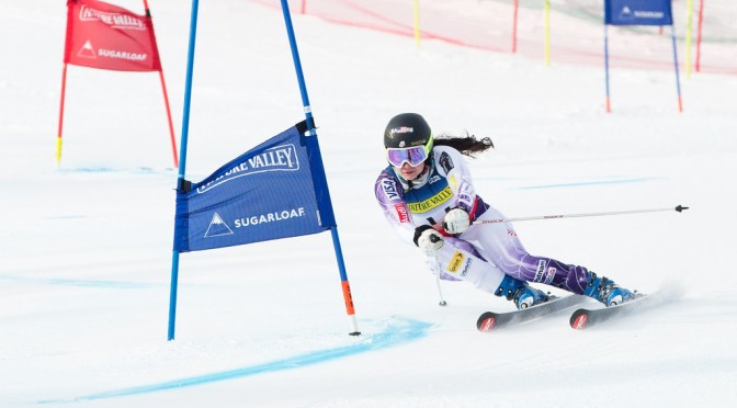 Jackie Wiles competes in the women's GS at the 2015 Nature Valley U.S. Alpine Championships at Sugarloaf Mountain, Maine. (file photo: USSA)