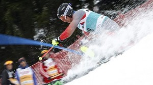 Michael Ankeny grabs 21st in the Adelboden World Cup slalom, his first World Cup finish. (photo: Getty Images/Agence Zoom-Christophe Pallot via USST)