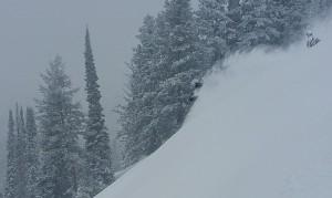 Whisper Ridge guest Brandi Hammon samples the Greatest Snow on Earth. (photo: FTO/Marc Guido)