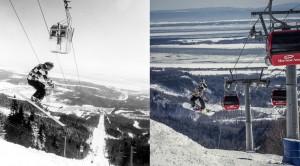 Mont-Sainte-Anne's iconic gondola, then and now. (photo: RCR)