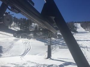 Pajarito's Townsight Lift was ready to go on Thursday. (photo: Pajarito Mountain)