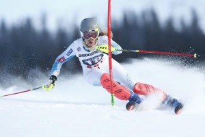 Resi Stiegler (shown here in Are, Sweden this season) has been consistently strong this season and looks for another top-10 result in Santa Caterina. (photo: Getty Images/Agence Zoom-Christophe Pallot via USST)