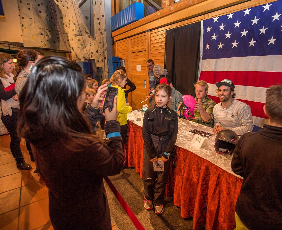 The U.S. Ski Team men met with members of the American Armed Forces and their families last week at the Edelweiss Lodge and Resort in Garmisch-Partenkirchen, Germany. (photo: Travis Ganong)