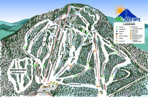 Mt. Abram's new trail map shows six new trails for 2016-17: Tucker's Tumble, Upper Wassomatta U, Dudley Park, Arr2Dee2, Cross Street and the Flying Squirrel Terrain Park. (image: Mt. Abram)