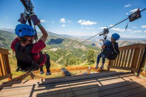 Summer amenities like zip lines help to drive off-season occupancy at ski resorts. (file photo: Sundance Mountain Resort)